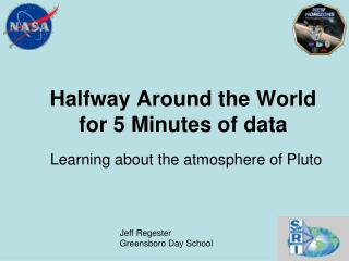 Halfway Around the World for 5 Minutes of data
