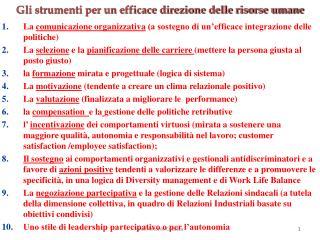 La  comunicazione organizzativa  (a sostegno di un'efficace integrazione delle politiche)