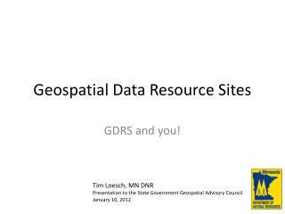 Geospatial Data Resource Sites