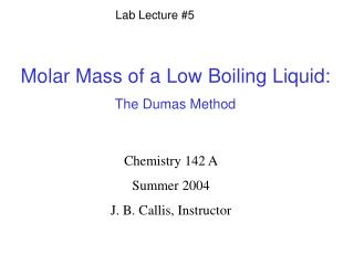 Lab Lecture #5