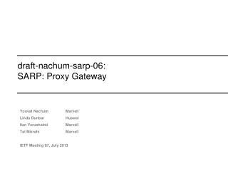 draft-nachum-sarp-06: SARP: Proxy Gateway