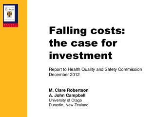 Falling costs: the case for investment