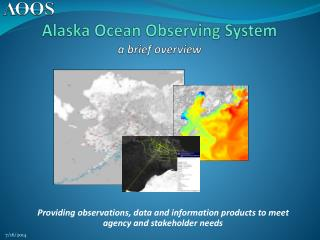 Alaska Ocean Observing System a brief overview