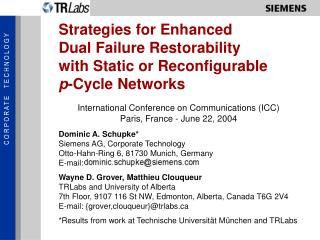 Strategies for Enhanced Dual Failure Restorability with Static or Reconfigurable p -Cycle Networks