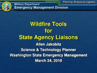 Wildfire Tools for State Agency Liaisons