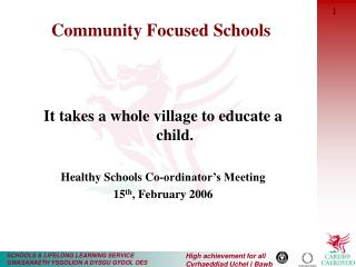 Community Focused Schools