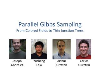 Parallel Gibbs Sampling From Colored Fields to Thin Junction Trees