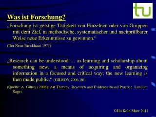 Was ist Forschung?