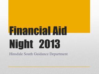 Financial Aid Night2013