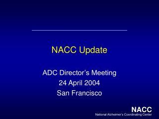 NACC Update