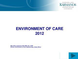 ENVIRONMENT OF CARE 2012 Mary Ellen Lesperance RN, MSN, CIC, CHSP