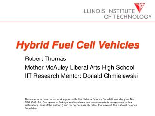 Presentation: Hybrid Fuel Cell Vehicles
