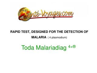 RAPID TEST, DESIGNED FOR THE DETECTION OF MALARIA ( 4 plasmodium)