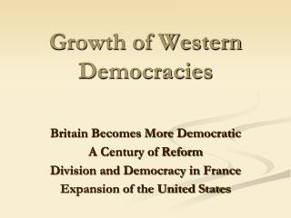 Growth of Western Democracies