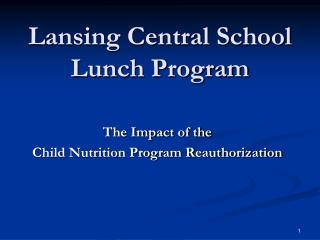 Lansing Central School Lunch Program