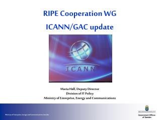 RIPE Cooperation WG ICANN/GAC update