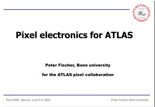 Pixel electronics for ATLAS