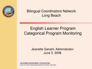 English Learner Program Categorical Program Monitoring