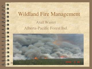 Wildland Fire Management