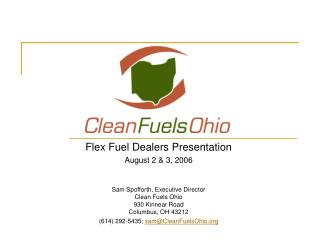 Clean Fuels Ohio FFV Dealer Forum Presentation
