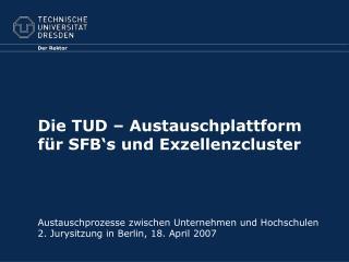Die TUD � Austauschplattform f�r SFB�s und Exzellenzcluster