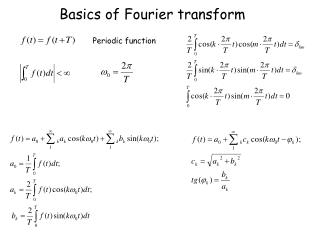Basics of Fourier transform