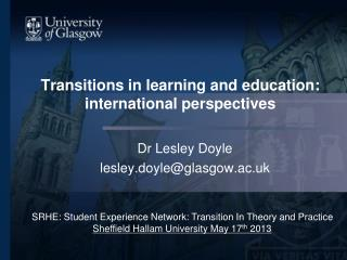 Transitions in learning and education: international perspectives