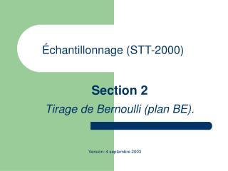 Échantillonnage (STT-2000)