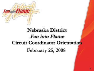 Nebraska District Fan into Flame Circuit Coordinator Orientation