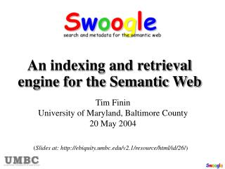 An indexing and retrieval engine for the Semantic Web