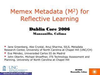 Memex Metadata (M 2 ) for Reflective Learning