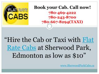 Flat Rate Cabs - Sherwood Park Alberta