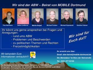 Wir sind der ABW – Beirat von MOBILE Dortmund