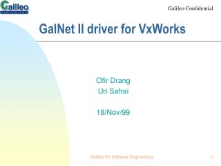 GalNet II driver for VxWorks