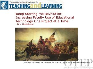 Jump Starting the Revolution: Increasing Faculty Use of Educational