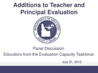 Additions to Teacher and Principal Evaluation