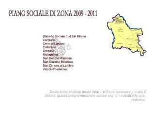 PIANO SOCIALE DI ZONA 2009 - 2011