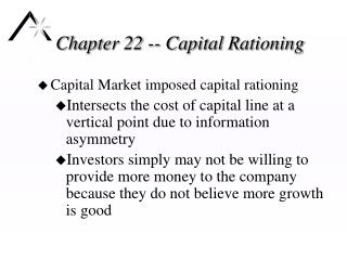 Chapter 22 -- Capital Rationing