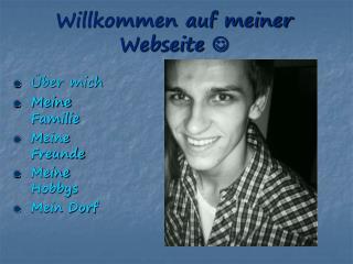 Willkommen auf meiner Webseite  