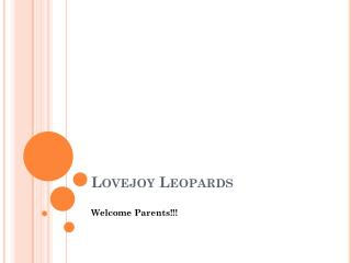 Lovejoy Leopards