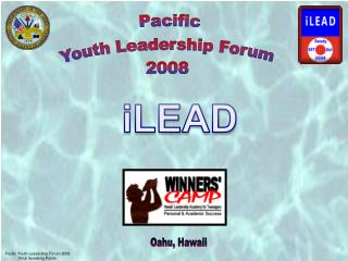 Pacific Youth Leadership Forum 2008 Final Speaking Points