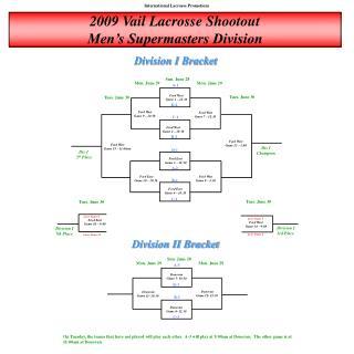 2009 Vail Lacrosse Shootout Men's Supermasters Division