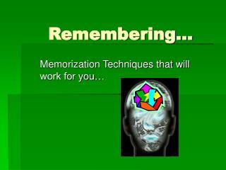Remembering�