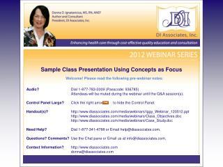 Sample Class Presentation Using Concepts as Focus