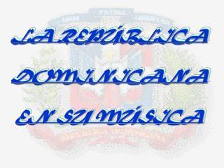 LA REPÚBLICA  DOMINICANA  EN SU MÚSICA