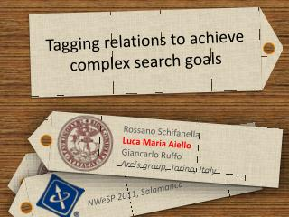 Tagging relations to achieve complex search goals