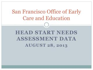 San Francisco Office of Early Care and Education