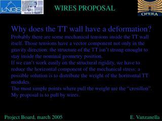Project Board, march 2005                                                  E. Vanzanella