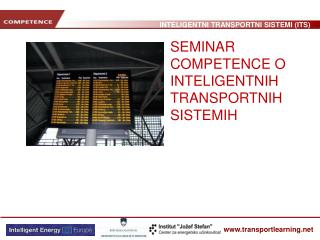 SEMINAR  COMPETENCE O INTELIGENT NIH   TRANSPORT NIH  S I STEM IH