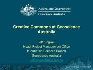 Creative Commons at Geoscience Australia